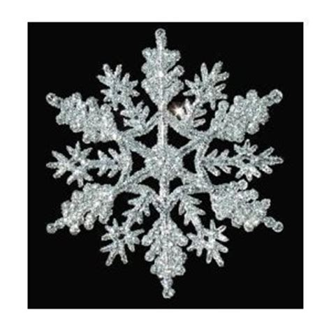 amazon com 12 pc silver 4 inch snowflake christmas