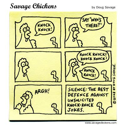 Halloween Jokes For Adults Clean by Knock Knock Cartoon Savage Chickens Cartoons On Sticky