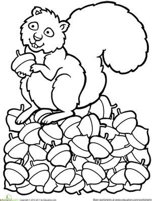 preschool fall worksheets amp free printables education 338 | color squirrel animals preschool autumn