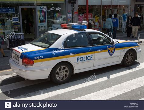 Police Car Busan South Korea Stock Photo