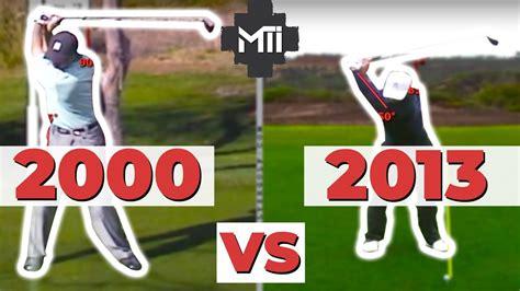 Tiger Woods 2000 Harmon Swing VS 2013 Foley swing - YouTube