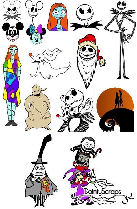 Nightmare Before Christmas Characters Svg  – 430+ File for DIY T-shirt, Mug, Decoration and more