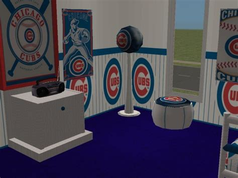 mod  sims chicago cubs bedroom requested