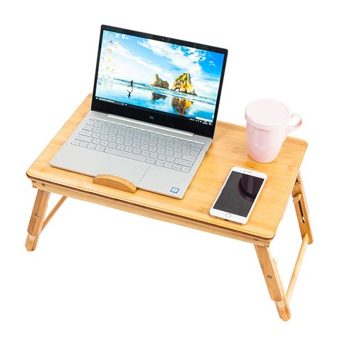 33067 laptop table for bed bamboo portable folding laptop computer notebook table bed