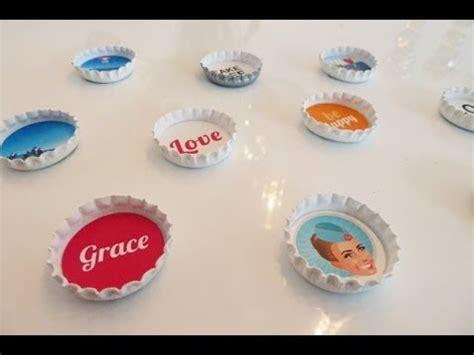 deko diy diy individuelle magneten aus kronkorken einfach selber machen deko kitchen