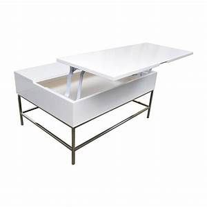 34 off west elm storage table west elm white lacquer With west elm white coffee table