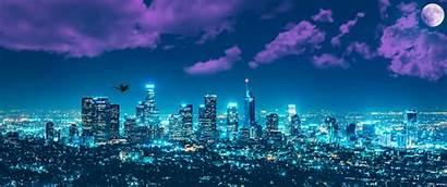 Angeles Night Wars Animated Cityscape Widescreenwallpaper Batman