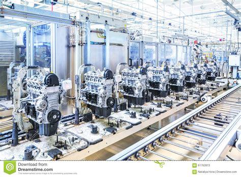 car audio equipment car engines at conveyor line stock photo image 61762813