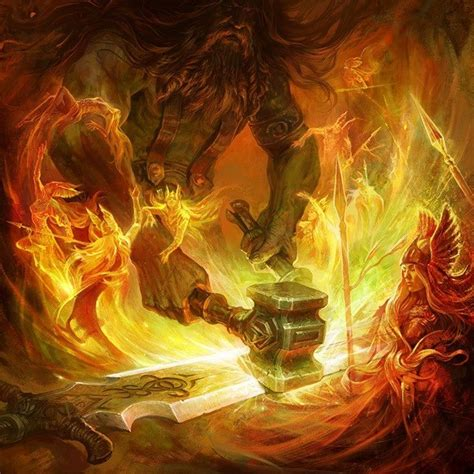 Hephaestus working | Mystical Witchery | Pinterest ...