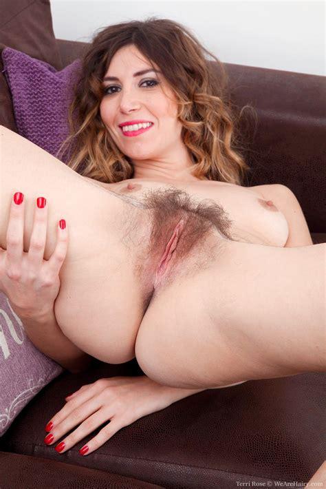 Terri Rose Strips Naked On Her Purple Sofa