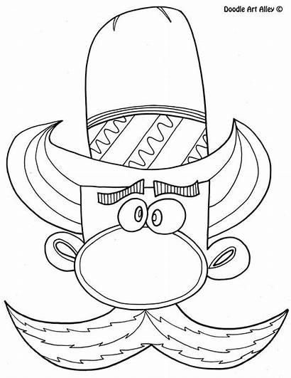 Doodle Cowboy Alley Coloring Pages Printable Colouring