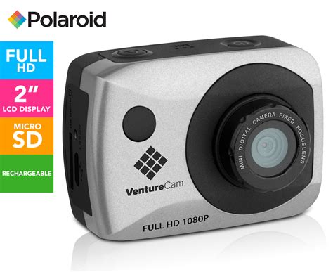 polaroid venturecam action camera silver catchcomau