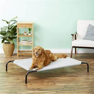Coolaroo, Steel-framed, Elevated, Pet, Bed, Grey, Large
