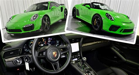 It is made by spark and is 1:43 scale (approx. Want A Lizard Green Porsche 911 Speedster Or A Viper Green 911 Turbo S? | Carscoops