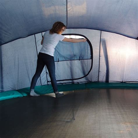 Why not lay and measure rope out on your lawn to get an idea of the room it will use up before you purchase a trampoline online to prevent a surprise when it arrives. Igloo tent for 15ft. trampoline 460.