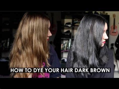 dye  hair dark brown  black rocknroller