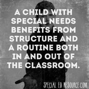 children benefit  structure  routine
