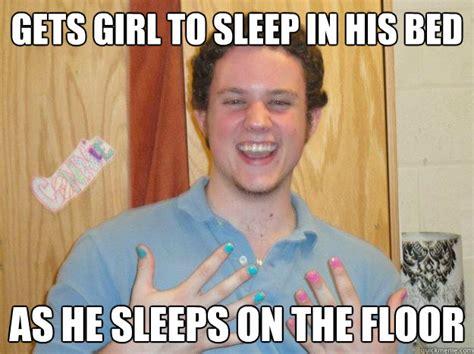 Gets Girl To Sleep In His Bed As He Sleeps On The Floor