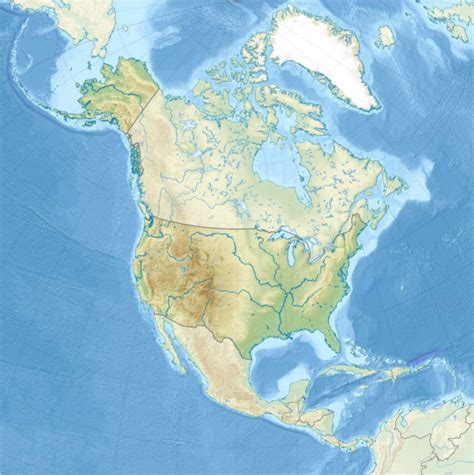 Ģeogrāfiskā karte - Amerikas Savienotās Valstis - 1,181 x ...