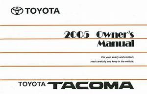 2005 Toyota Tacoma Owners Manual User Guide Reference