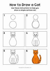 How To Draw A Cat Instructions Sheet  Sb8218