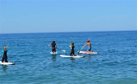 paddle surfing on the costa tropical