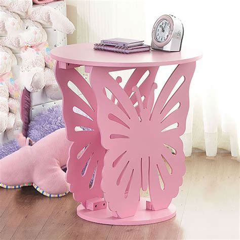 childrens bedside ls bedroom children 39 s wooden butterfly table round side end l