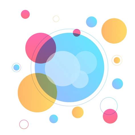 modern abstract geometric background with colorful circle