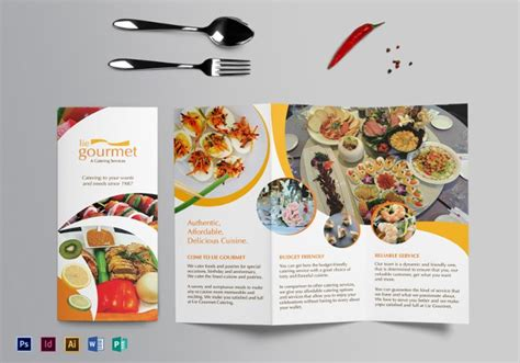 Food Brochure Templates by 20 Food Brochure Templates Free Psd Eps Ai Format