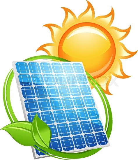 Solar Panel And Batteries With Sun Symbol