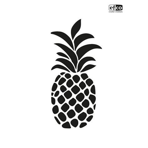 schablone ananas din  ideal fuer kreative schablonier