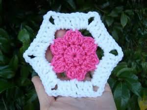 Scrap Yarn Crochet Hexagon Pattern