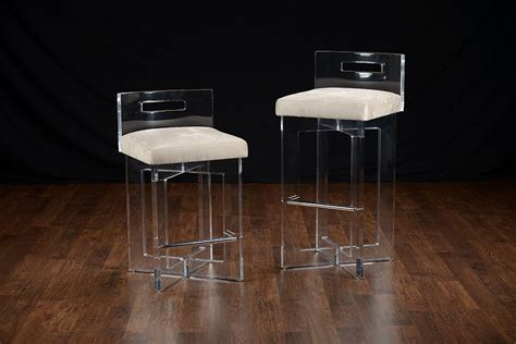 trendy clear acrylic bar stool   charm prominent stools  backs plan  nepinetworkorg