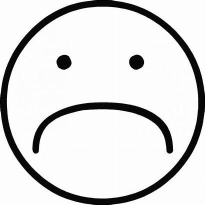 Face Sad Colorier Imprimer Smiley Coloriage Clipart