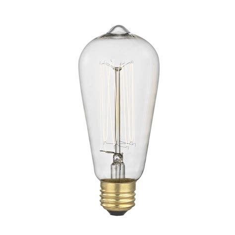 vintage edison squirrel cage light bulb 60 watts
