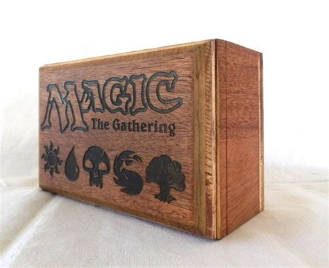 Magic The Gathering Wooden Deck Box by Magic The Gathering Deck Box Mahogany Wood Holds 3 By
