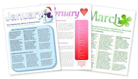 monthly newsletter templates preschool newsletter