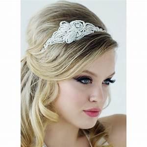 coiffure retro bandeau With bijoux de tete mariee