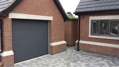 hormann garage doors hormann lpu 40 l rib sectional garage door grey