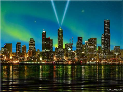 panoramio photo of seattle northern lights borealis