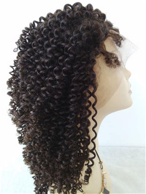 burmese virgin kinky curl full lace wig  black women