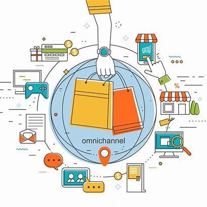 Omnichannel Omni Channel Channels Sales Illustration Marketing