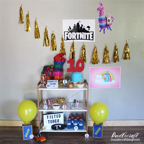 fortnite themed birthday party ideas diy