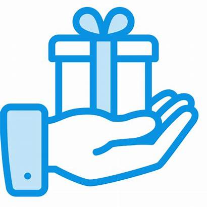 Hand Icon Gift Present Deliver Give Delivered