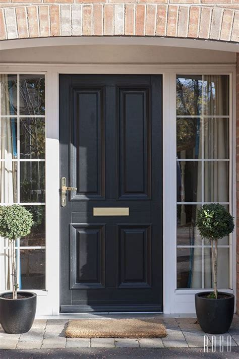 Smashing Front Door With Side Panels Front Doors With