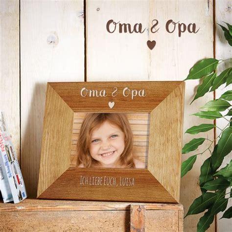 personalisierter bilderrahmen oma opa mit herz gravur