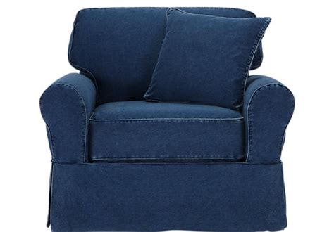 cindy crawford slipcover sofa picture of cindy crawford home beachside denim chair from