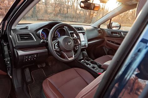 subaru outback touring interior 2018 subaru outback 3 6r first test the more powerful
