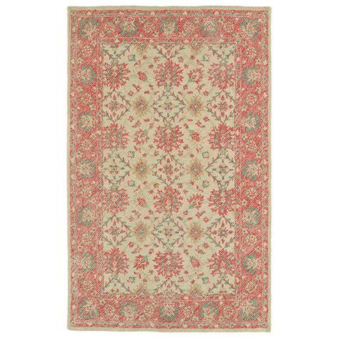 4 foot area rugs kaleen weathered watermelon 4 ft x 6 ft indoor outdoor