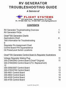 Onan Rv Troubleshooing Guide